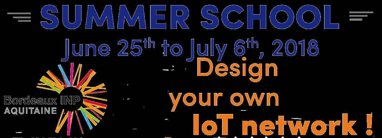 "Summer School ""Design your own IoT network"""