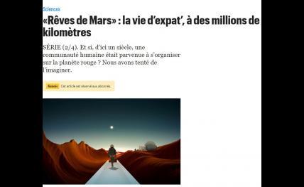 «Rêves de Mars» : la vie d'expat', à des millions de kilomètres